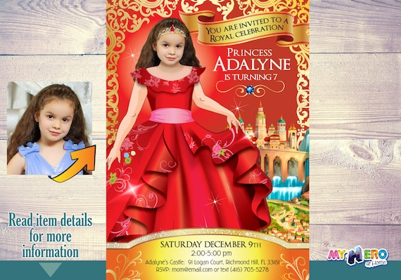 Elena Of Avalor Party Invitations Turn Your Little Girl In Princess