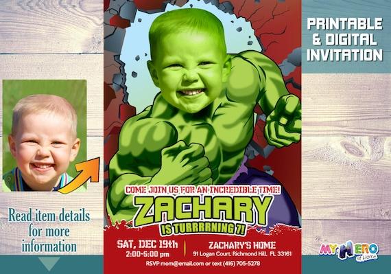 HulkHulkFiesta Más De Vengadores Los Increíble Hulk Como Cumpleaños Del Invitación Con Grande Niño Su El DEH9YW2I