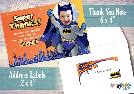 Baby Batman 1st Birthday Invitation Turn Your Little Boy Into