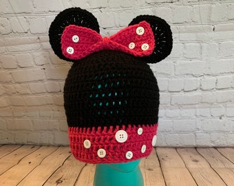 Mini Mouse hat