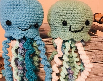 Octopus toy, kid or dog toy. Crochet octopus, child octopus toy.