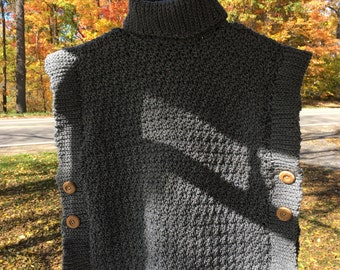 Little girl crochet poncho, sweater, vest