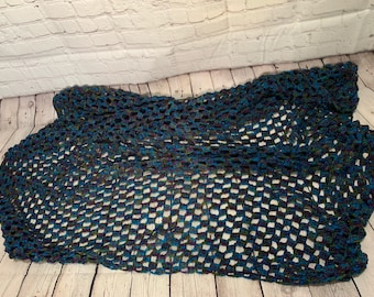 Crochetd blanket,  handmade afghan (ready to ship)