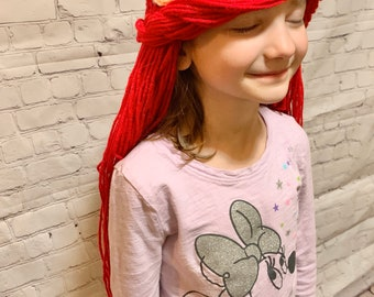 "Ariel ""little mermaid hat"", mermaid crochet, crochet little girl hat, disney lover, little mermaid"
