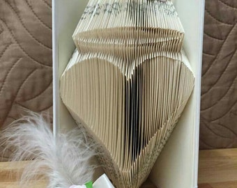 Half Price Sale - Angel Heart - Book Folding Pattern