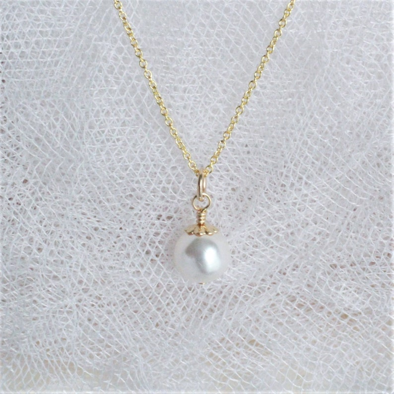 Bridesmaids Wedding Jewelry Bride/'s Wedding Gift Wedding Jewelry for Brides Bridal Party Gift Wedding Jewelry Gift White Pearl Necklace
