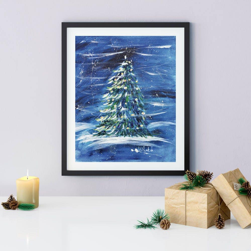 Christmas Tree Printable Wall Art Holidays Gift | Etsy