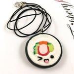 Kawaii Sushi Maki Necklace - California Roll Necklace - Sushi Jewelry - Sushi Necklace - Japanese Food Jewelry