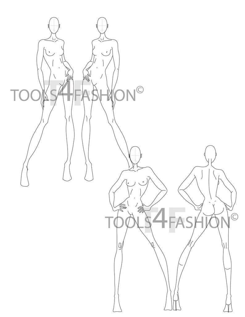 MEGA BUNDLE fashion templates 25 poses50 figures total Bonus hairstylesfaceseyewear!