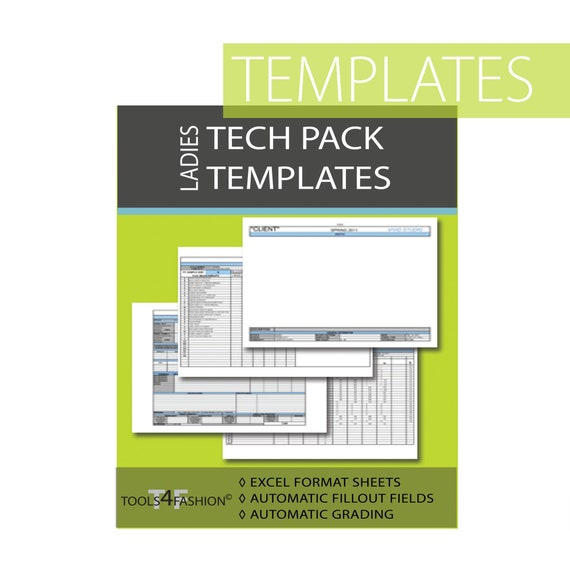 Tech Pack Template For Women Fashion Spec Sheets Excel Format