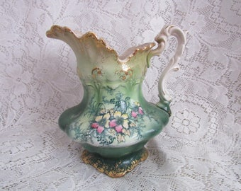 Vintage Water Pitcher, French China Company, Pluto, Circa 1920