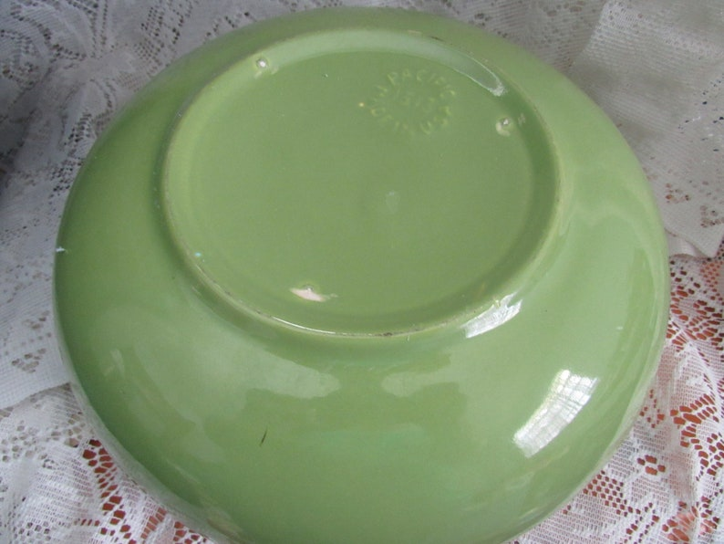 MIdCentury Vintage Pacific Pottery Green Mixing  Bowl USA Pottery