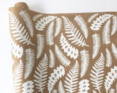 Wrapping Paper - Fern Gift Wrapping Paper, Screen Printed, Junglelow Wrapping Paper, 9ft Roll, Paper Table Runner, FREE SHIPPING