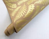 Wrapping Paper - Fern Gift Wrapping Paper, Screen Printed, 9ft Roll, Paper Table Runner, Leaf Wrapping Paper, FREE SHIPPING