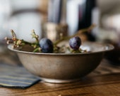 Small Brass Bowl - Round Vintage Bowl with Patina