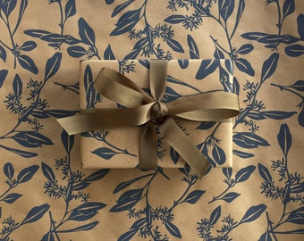 In Metallic Gold and Gloss White 10 ft x 2 ft x .60 m Roll 3.048 m Nativity Scene Wrapping Paper