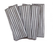 Screen Printed Table Runner | White Striped Neutral Linen Table Runner Wabi Sabi Decor Housewarming Gift Hygge Home Spring Decor
