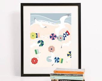 Beach Birds Art Print 8x10 | Folk and Fauna Co.