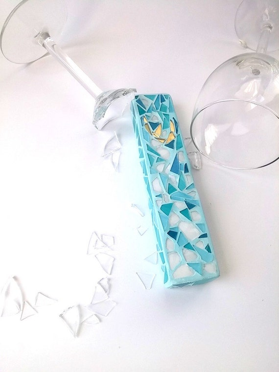Reserved To Natalie Shorrock Wedding Glass Shards Mezuzah Etsy