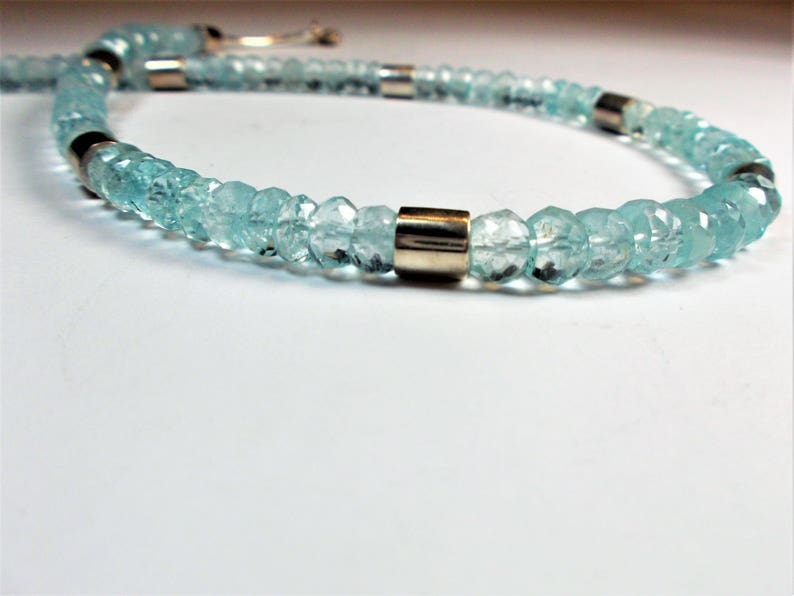 Aquamarine necklace 925 sterling silver