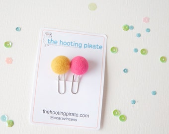Two Cute Pompom Planner Clips