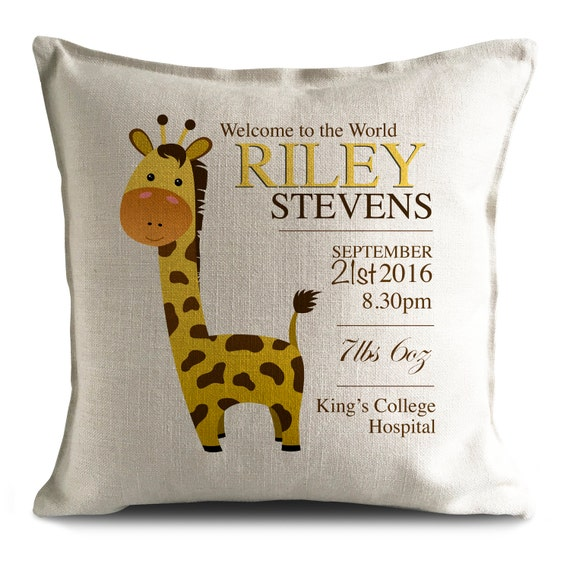 Personalised Baby Cushion Cover New Baby Girl Boy Etsy