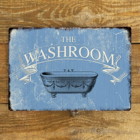 Toilet The Loo Sign Plaque or Hanging Rustic Metal Shed Man Room Garage
