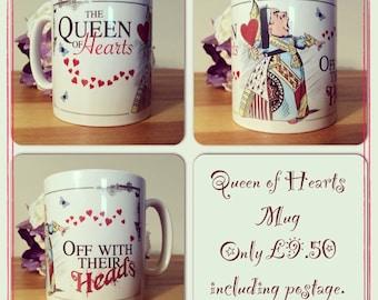 Alice in Wonderland mug Decorative Gift - Mad Hatter Tea Party prop queen of hearts
