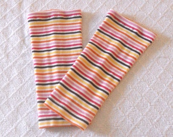 Striped Baby Leg Warmers Girl, Toddler Leg Warmers, Infant Leg Warmers, Girl Baby Leggings, Baby Boot Socks, Slouch Sock, Footless Sock