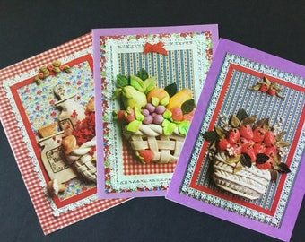 Vintage Unused 4 By Sunshine Country Bread Dough Notecards