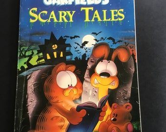 vintage childrens halloween book garfields scary tales by jim davis softcover 1990