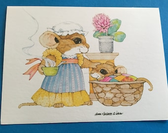 Current inc etsy vintage get well greeting card sick baby mouse by current inc m4hsunfo