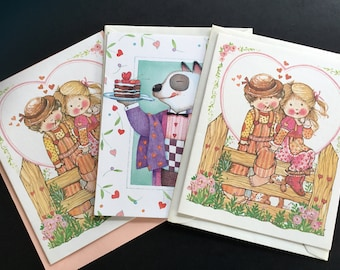 Current inc etsy vintage unused valentines day greeting cards by current inc 3 m4hsunfo