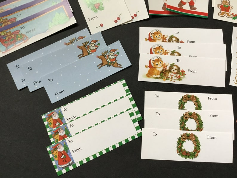 Various Designs Vintage Assortment of Christmas Present Gift Tags 30 Total
