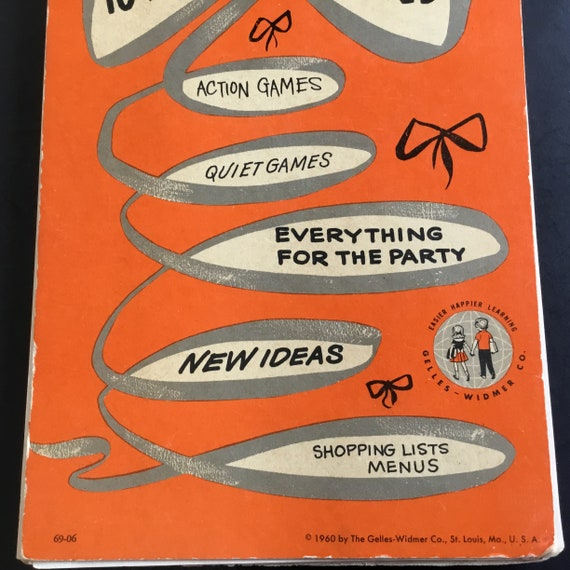 Vintage Lets Give A Birthday Party Spiral Book By