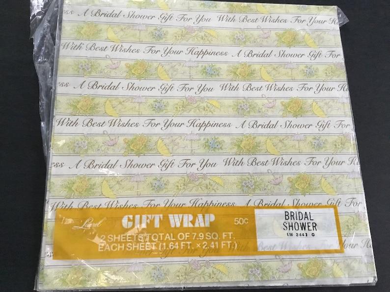 Vintage Bridal Shower Wrapping Paper by Laurel Flower Bouquets /& Umbrellas Design