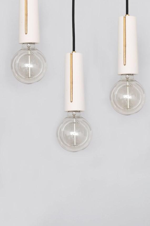 White modern pendant light fixtures bulb Spider Image Etsy Minimalist Pendant Light White Industrial Pendant Light Etsy