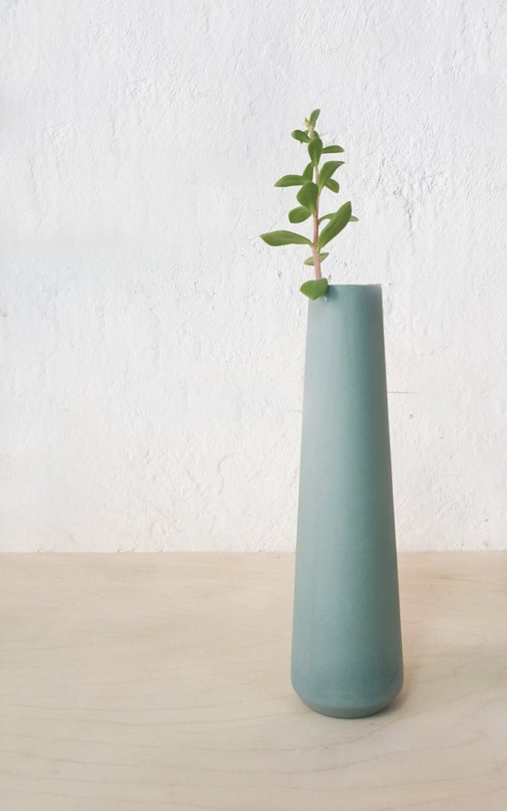 Single Flower Vase Ceramic Bud Vase Scandinavian Modern Etsy