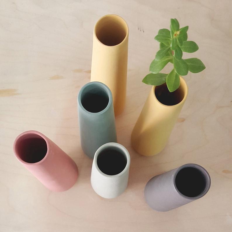 ceramic vase single flower vase minimalist Flower Vase image 0