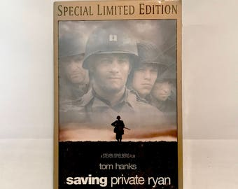 New / Factory Sealed 1998 Double (2) VHS VCR Tapes SAVING Private Ryan - Special Limited Edition Digitally Mastered in High Definition -