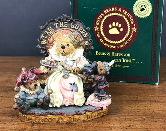 Boyds Bears Queen Elizabeth Rosencrantz & Guilderstern Figurine in Box - Princess Teddy Bear Nursery Decor - Celebration Collection 01998-71