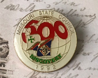 Missouri State Council Souvenir Enamel Pin - Vintage Traveler Lapel Pin - Hat Pin - Tie Pin - Tack Pin Travel Gift - On Sale Free Shipping