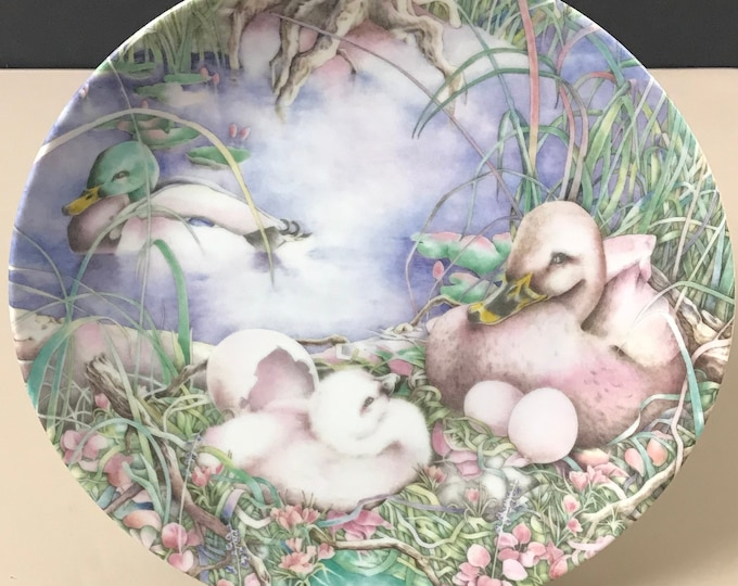 "Ugly Duckling Collector Plate 1st Issue ""Not Like The Others"" by Grande Copenhagen Denmark - Karen Bornholt Art - Duck Swan Wall Plate Decor"