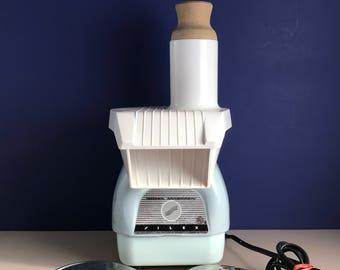 Vintage Blue Kitchen Appliance - Proctor Silex Slicer Shredder - 1960's Retro Decor - Old Kitchen Gadget - Rare Model 2750-C - Gift for Mom
