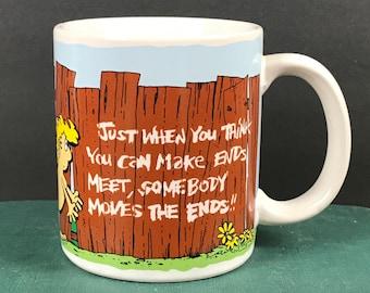 Vintage Can't Make Ends Meet Coffee Cup - Funny Novelty Couples Marriage Mug - Economy Naked Humor Joke Coffee Mug - Contenova Viewpoints