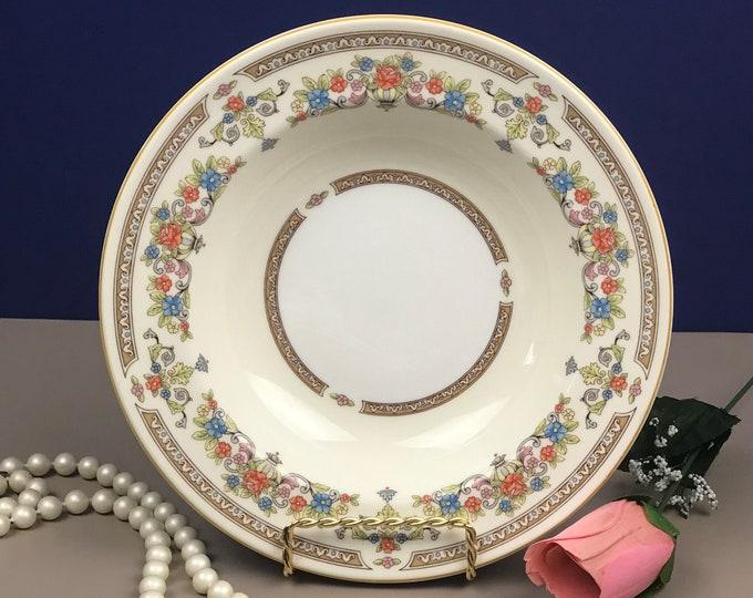 "Aynsley Devonshire 8"" Soup or Salad Bowl- Fine English Bone China - Replacement Dish - Ivory & Gold Floral Design - Elegant Tableware"