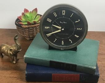 Vintage Westclox Big Ben Mechanical Alarm Clock Style 7 - 1950's Bedroom Winding Clock - MCM Decor - Old Clock Prop Display, Parts or Repair