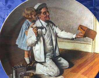 "Norman Rockwell Collectors Plate - ""The Painter"" - Heritage Collection - Certificate - Numbered - Knowles - Fine Porcelain China - Gift"