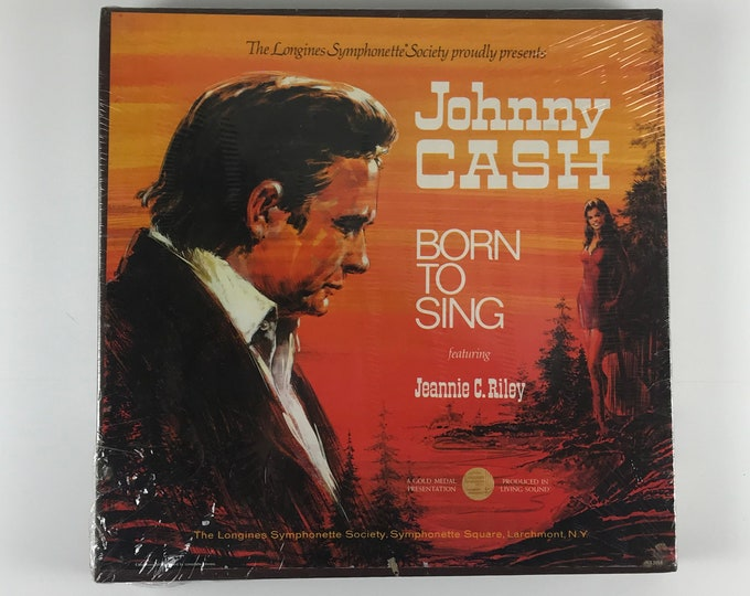 New / Sealed Johnny Cash Born To Sing Vinyl Record Box Set - 5 LP Albums Johnny Cash with Jeannie C. Riley - Longines Symphonette Society
