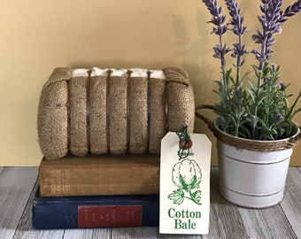 Cool Vintage Souvenir Cotton Bale - Unique Retro Burlap Decor - Southern America Memorabilia - Really Big Cotton Ball - Odd Travel Souvenirs